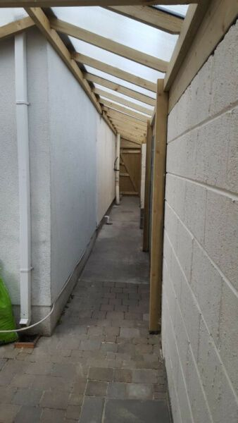 Lean To Shed Covered Side Passageway Side Return Cover Dublin Gumtree Classifieds Ireland 547893531 In 2020 Lean To Outdoor Buildings Lean To Shed