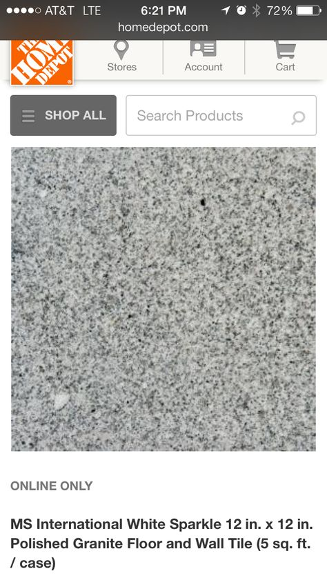 12x12 White Granite Tile 3 49 With Images Granite Tile Granite Flooring Granite Countertops