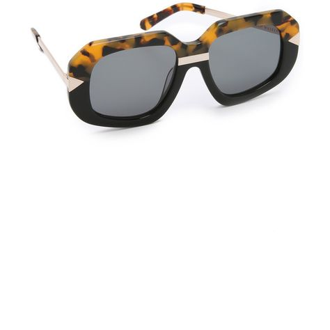 ec09c276bbe Karen Walker Hollywood Creeper Sunglasses (396 AUD) ❤ liked on Polyvore  featuring accessories