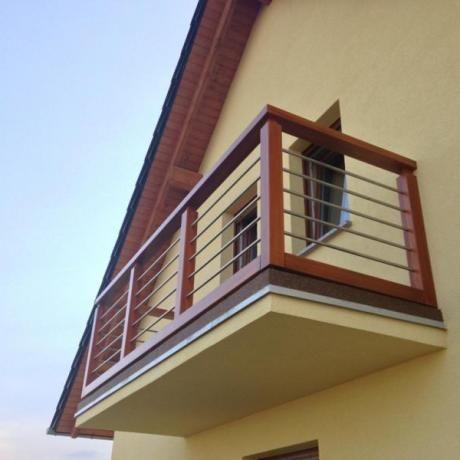 Balkon Drewniany Balustrady Tarasowe Domy Projekty W