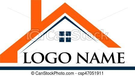 Roof House And Logo Name Illustration Estate House Real Home Architecture Building Business Property Constructio House Roof People Logo Logo Design