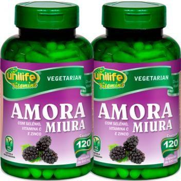 Kit Com 2 Frascos De Amora Miura Com Vitaminas Unilife 120