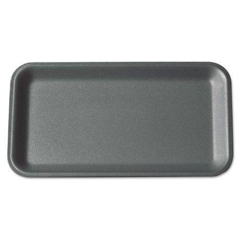 Genpak Supermarket Trays Black Foam 8 1 2 X 6 1 2 X 1 2 125 Bag 4