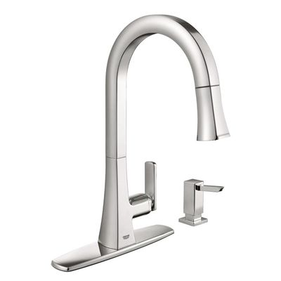 Grohe Kitchen Faucet 30365000 Carre Chrome 1 Handle Pull Down