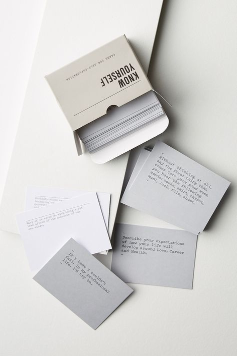 The School of Life Know Yourself Cards   Anthropologie