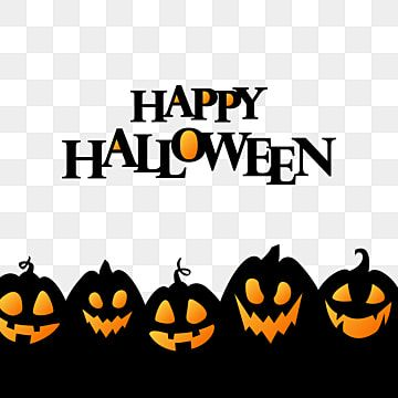 Happy Halloween With Black Pumpkin Silhouettes Design Pumpkin Happy Halloween Png And Vector With Transparent Background For Free Download Happy Halloween Font Halloween Fonts Halloween Poster