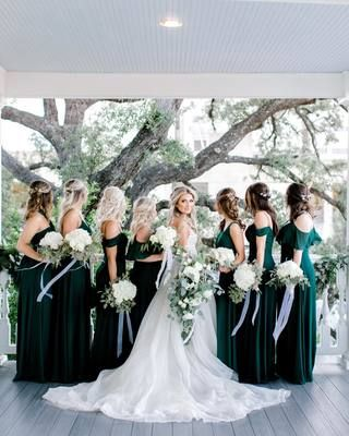 Spence Convertible Chiffon Bridesmaid Dress in Emerald – Birdy Grey Go with a best suited Winter Wedding Bridesmaids, Winter Bridesmaid Dresses, Bridesmaid Dress Colors, Fall Wedding Colors, Fall Wedding Themes, Winter Wedding Ideas, November Wedding Colors, Bridesmaid Poses, Bridesmaid Bouquet White