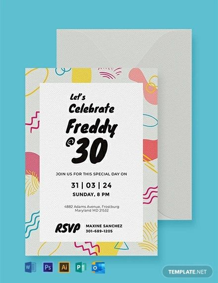 Free Birthday Party Invitation Card Template Word Doc Psd Apple Mac Pages Illustrator Publisher Outlook Party Invite Template Free Birthday Invitation Templates Birthday Invitation Templates
