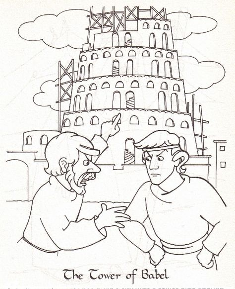 tower of babel coloring page # 16