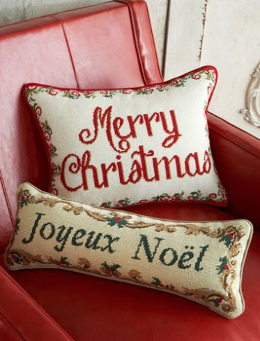 Needlepoint Holiday Pillows http://rstyle.me/n/tbxb2bh9c7