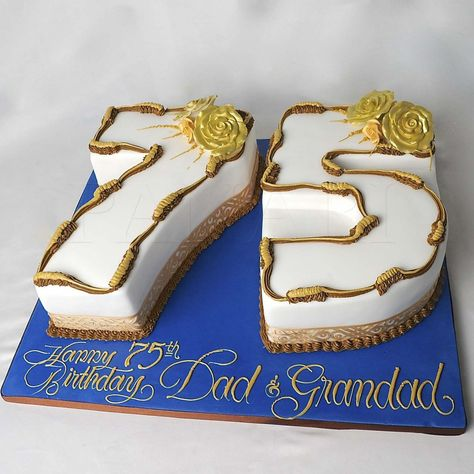 75th Birthday Decoration Ideas Of Cake For Men Party
