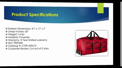 Rockland Luggage 40 Inch Rolling Duffle Review  55a10f491ce48