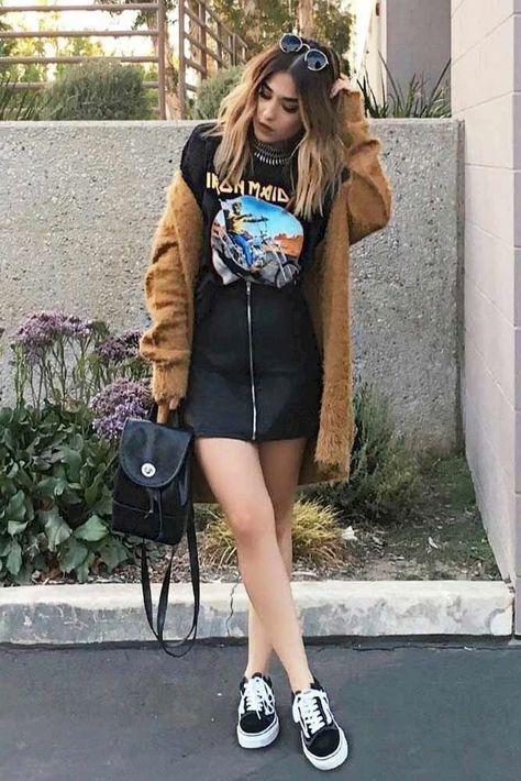 7810265ff Vetements Denim Skirt and Loewe T-Shirt | Top Picks for Fall 2016 | Fashion,  Denim skirt, Denim skirt outfits