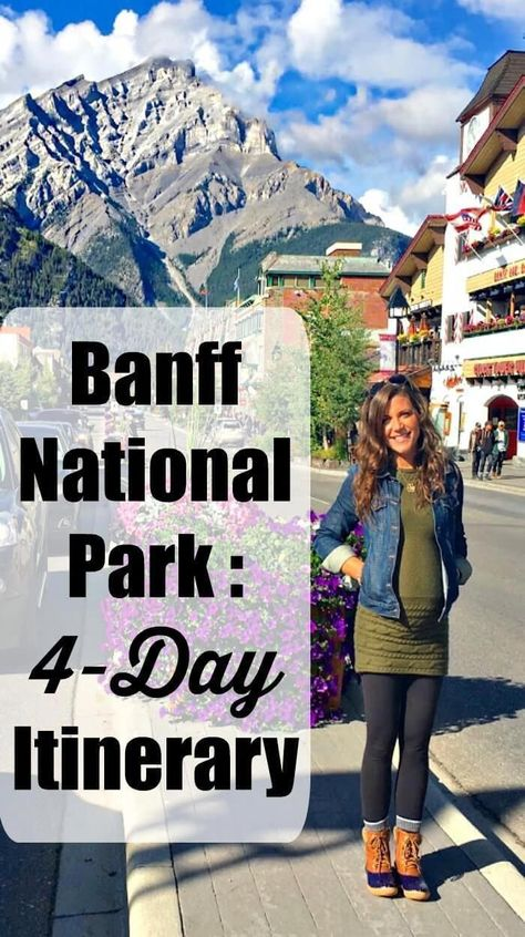 4 day Road Trip Itinerary - Banff National Park - Lazy Lauren Itinerary for your Banff National Park Road trip! My husband and I spent 4 days exploring the area. Here's our tips on the top must-see sites. Vancouver, Canada Travel, Travel Usa, Travel Tips, Canada Trip, Travel Goals, Budget Travel, Canada Tourism, Canada Eh