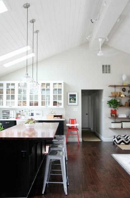 19 Super Ideas Kitchen Layout With Island Ranch Vaulted Ceilings