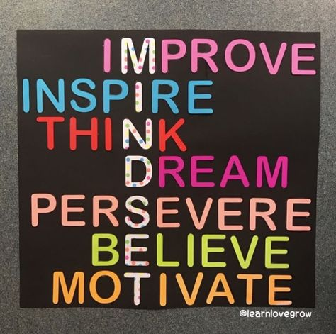 May you have a MINDSET day! improve inspire think dream persevere believe motivate thursdaymotivation myjourneyoflove milliesfitjourney milliescaregivingjourney Bulletin Board Display, Classroom Bulletin Boards, Preschool Bulletin, Counseling Bulletin Boards, Leadership Bulletin Boards, Inspirational Bulletin Boards, Classroom Organization, Classroom Management, School Displays