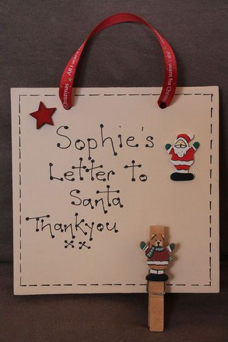 Personalised Christmas Plaque Letter to Santa Peg | eBay