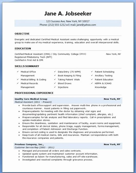 25 medical assistant resume template in 2020  medical