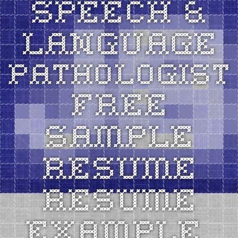 11 best Resume Speech Pathologist images on Pinterest Useful - assistant speech pathologist sample resume