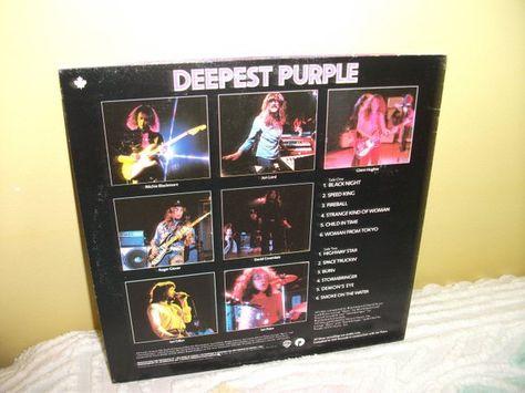 Very Best Of Deep Purple Deepest Purple Vinyl Record Album Near Mint Condition Deep Purple Vinyl Records Purple