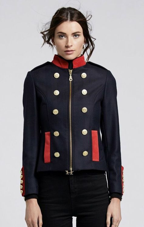 Holland Cooper Windsor Jacket Navy And Red Size 10 Fashion Clothing Shoes Accessories Womensclothing Coatsjacketsve Womens Cropped Blazer Fashion Jackets