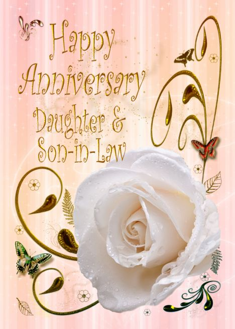 White Rose Happy Anniversary Card For Daughter Son In Law Card Ad Sponsored Happy Anniversary Cards Anniversary Cards For Wife Birthday Cards For Friends