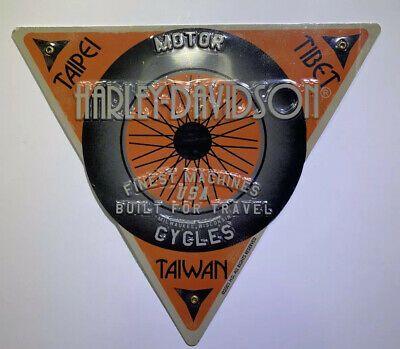 Harley Davidson Sign Tin Embossed International Taipei Tibet Taiwan Contemporary Ebay In 2020 Harley Davidson Signs Harley Davidson Taipei