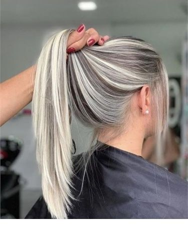 The Perfect Ponytail Balayage Hair Hair Highlights