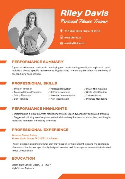 How To Design A Personal Fitness Trainer Resume Click For More Personal Fitness Trainer Fitness Trainer Personal Fitness