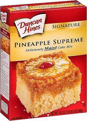 Duncan Hines Signature Pineapple Supreme Cake Mix 4 Pack 644209411306 Ebay Pineapple Upside Down Cake Pineapple Upside Cake Cake Mix