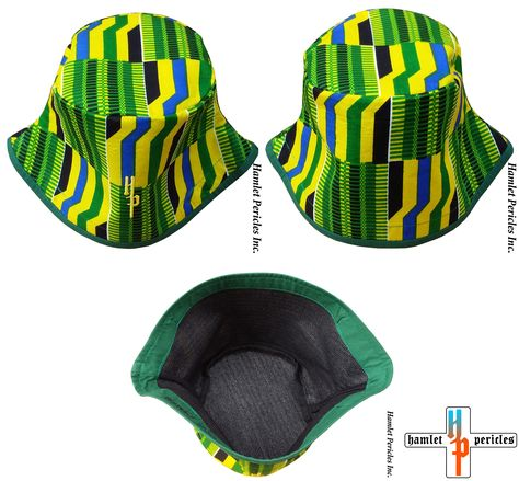 African Kente Unisex Bucket Hat via Hamlet Pericles d7da5d15160