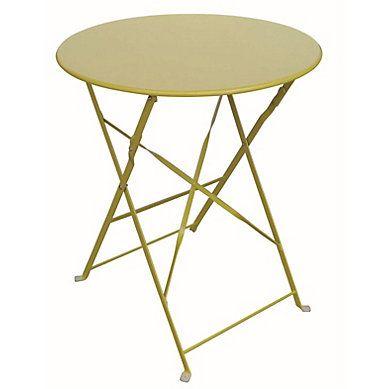 table pliante tropical jaune but