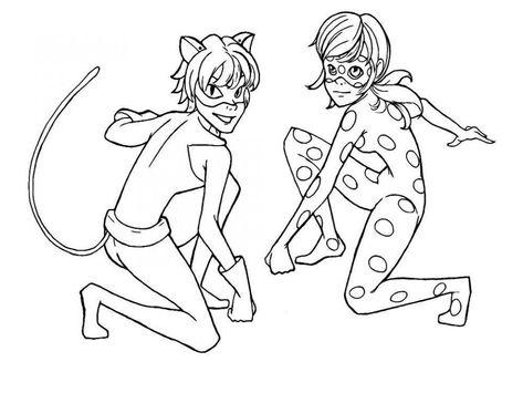 Dibujos Para Colorear Ladybug Y Cat Noir Ladybug Coloring Page
