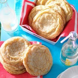 Giant Lemon Sugar Cookies Recipe from Taste of Home -- shared by Michael Vyskocil of Glen Rock, Pennsylvania