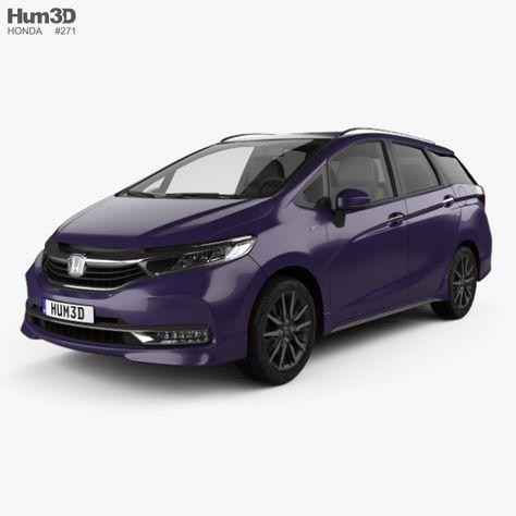 Honda Shuttle Hybrid 2019 In 2020 Honda Shuttle Honda Car 3d Model