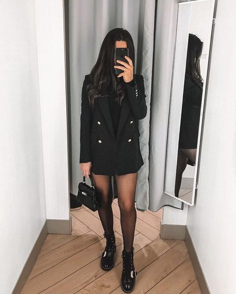 Boots and black blazer - LadyStyle Source by clothes