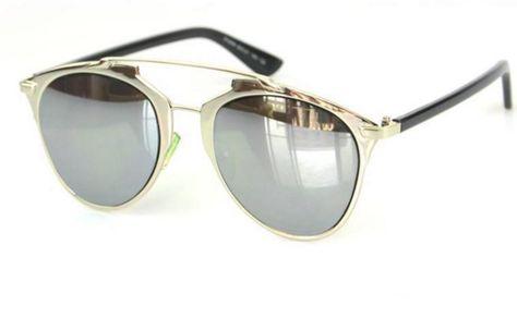 4a53f5855cd Aviator style silver mirror lens. Ciara Mirror Metal Frame Sunglasses   fashion  sunglasses  mirrorlens  silver  aviators