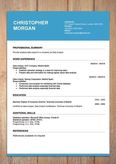 Cv Resume Templates Examples Doc Word Download Resume Template Examples Cv Resume Template Cv Template