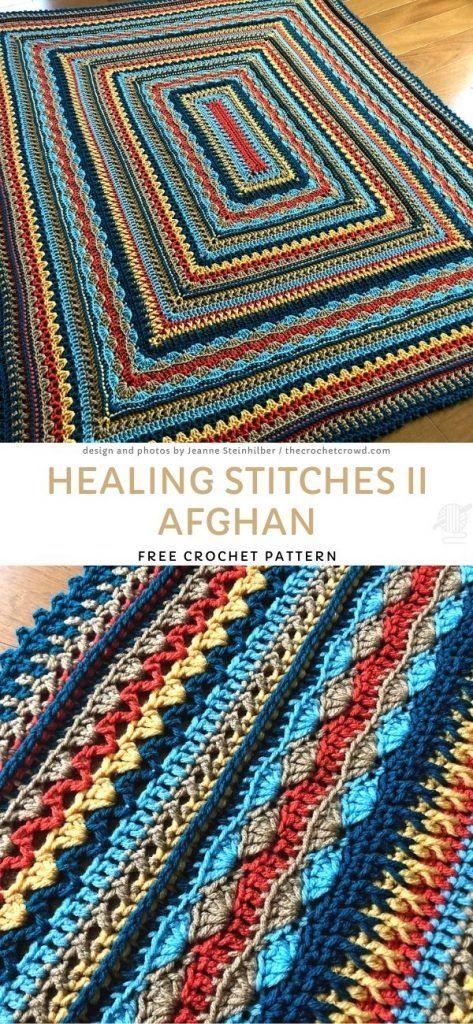 Crochet Ripple Afghan, Crochet Afghans, Crochet Blankets, Baby Afghans, Crochet Stitches, Afghan Crochet Patterns, Knitting Patterns Free, Crochet Blocks, Knit Or Crochet