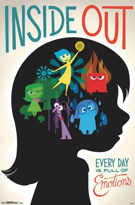 Inside Out - Emotions Poster and Poster Mount Bundle - Walmart.com