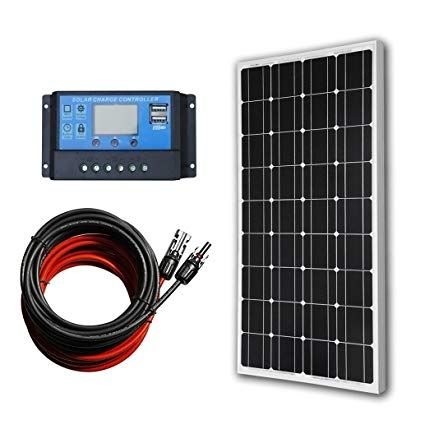 Eco Worthy 12 Volt 100 Watt Monocrystalline Solar Panel Kit With 20a Lcd Charge Controller Re Monocrystalline Solar Panels Solar Power Panels Best Solar Panels