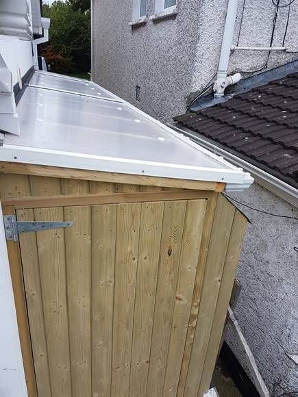 Lean To Shed Cabinteely Side Passage Shed Mac Carpentry In 2020 Lean To Lean To Shed Lean To Roof