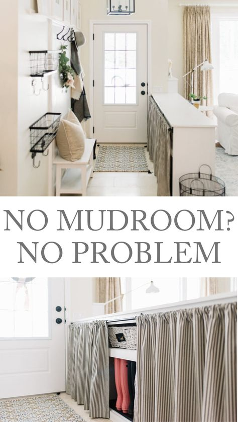 No Mudroom? No Problem Small Entryway Tips How To Stay Organized Without A Mudroom, designing a small entryway, builder g Small Entryway Organization, Pantry Organization, Entryway Ideas, Organized Entryway, Organizing, Small Space Living, Small Spaces, Small House Decorating, Decorating Bathrooms