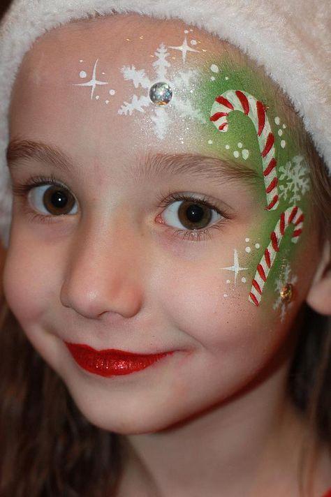 93 Christmas Face Paint Ideas Christmas Face Painting Kids Face Paint Face Painting Designs