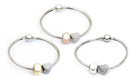 1 ou 2 bracelets bangle Arc ornés de cristaux Swarovski® de la ...