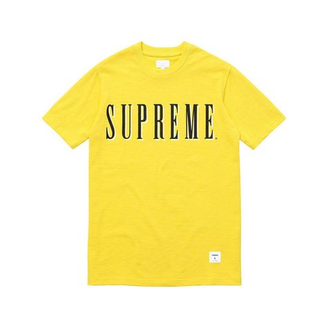 bd1a239cc Supreme Sports Tee ($72) ❤ liked on Polyvore featuring shirts, t shirt,  yellow tee, sport top, sports t shirts and sport shirt