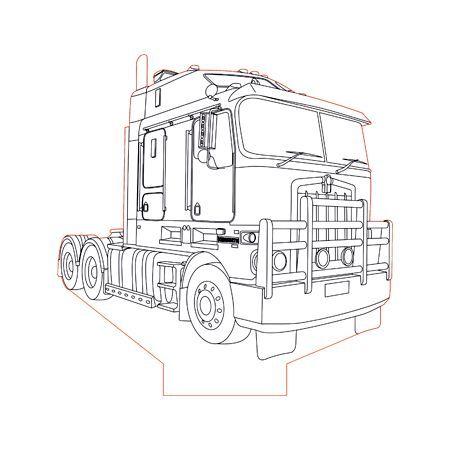 Kenworth Truck 3d Illusion Lamp Plan Vector File Kenworth Trucks