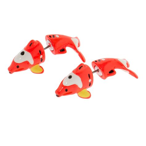 Katy Perry Koi Fish Front and Back Earrings