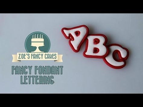 Making fancy lettering text for cake decorating How To Tutorial - YouTube