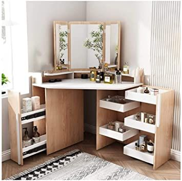 Pin On Interiores Vanity table with mirror and bench